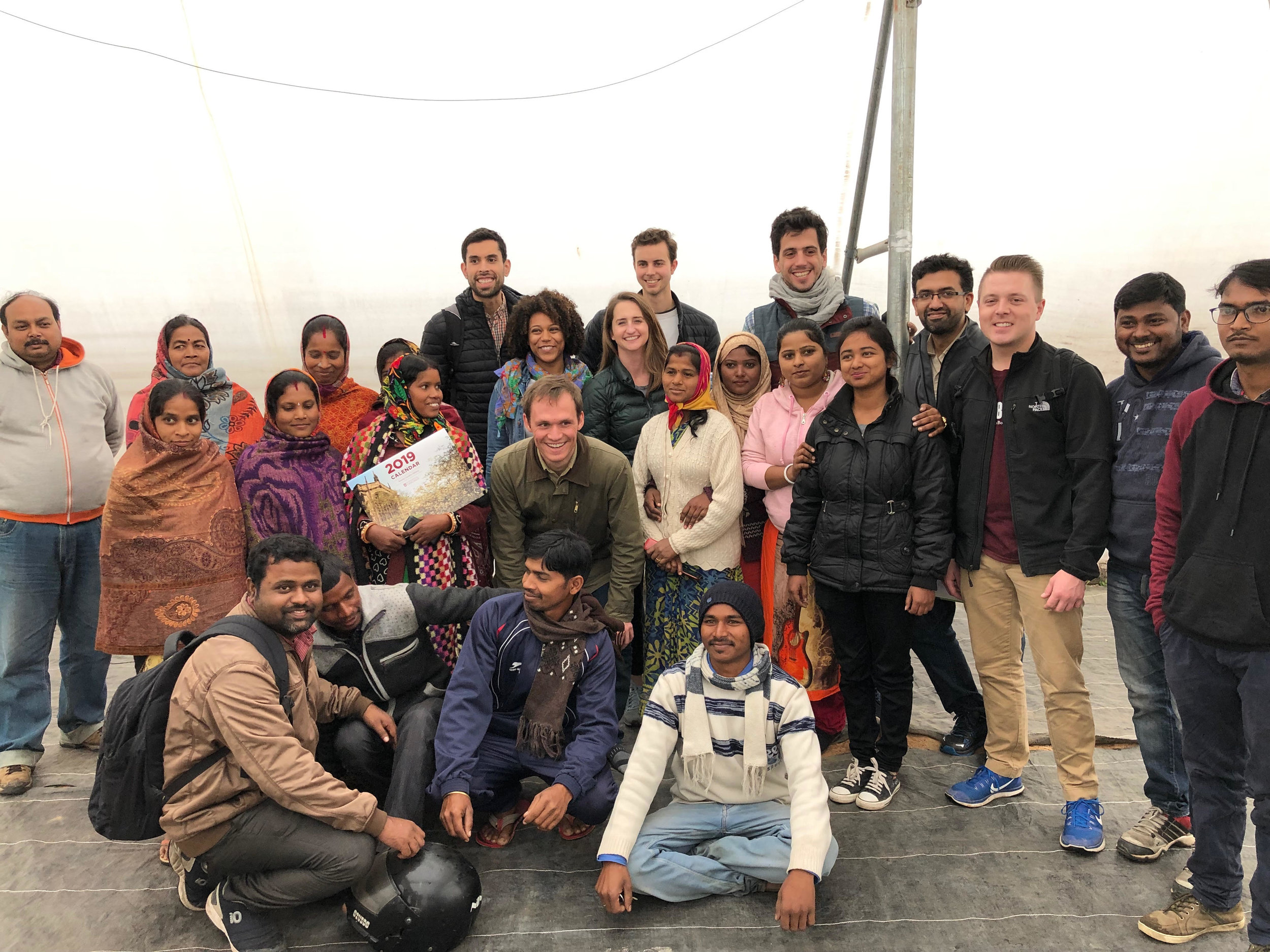 Booth GSIP team with NGOs and community organizers in India