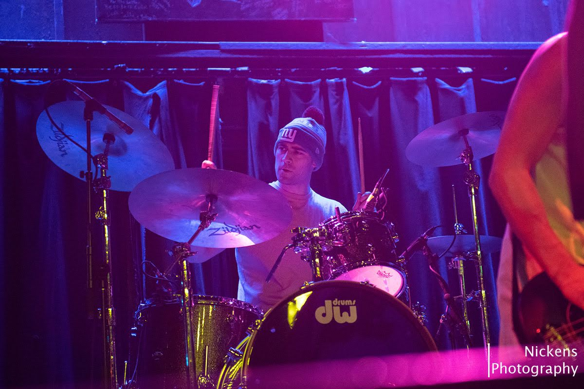 Baby Daddy drummer Dan Alfano keeping the beat and rocking the house while trying to stay warm in the Chicago winter.