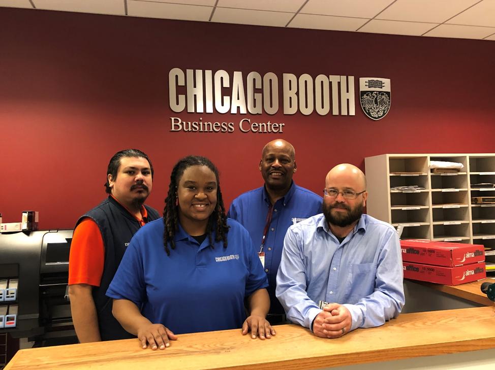 Emilio Garcia, Kim Howard, Denard Jacox, Bryan Aitchison at the Business Center