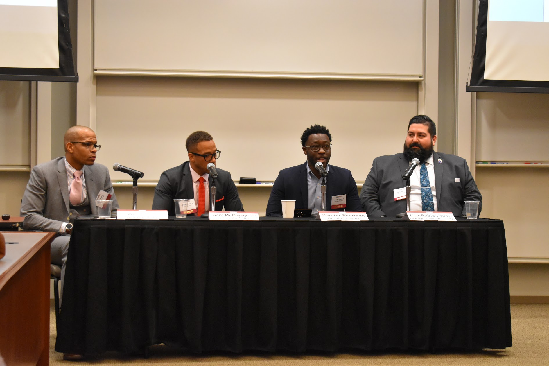 Will Towns, Gem McReary, Mambu Sherman,and Juan Pablo Prieto discuss equity and inclusion