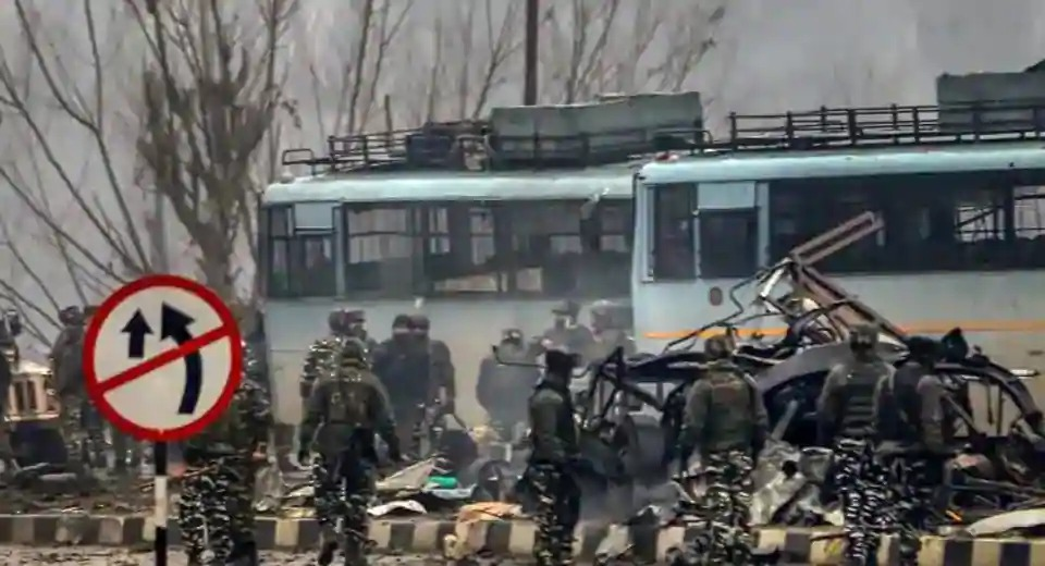 Militants attack a paramilitary convoy in Pulwama, Kashmir