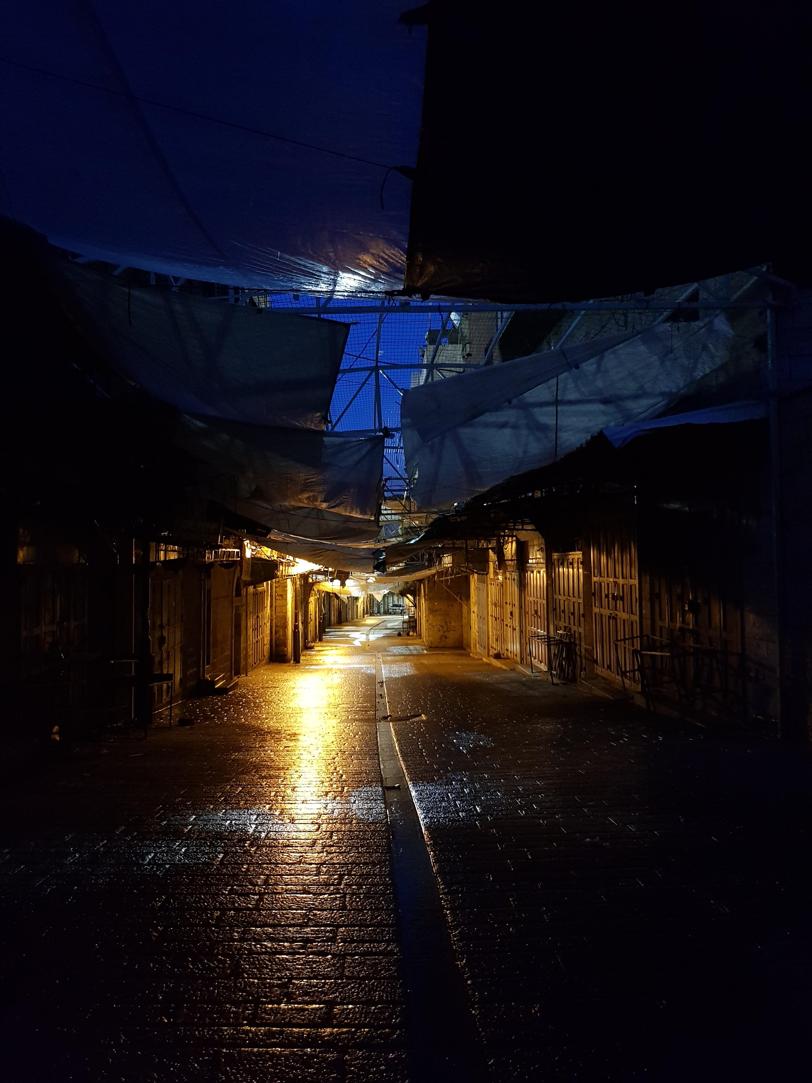 Deserted streets in Hebron