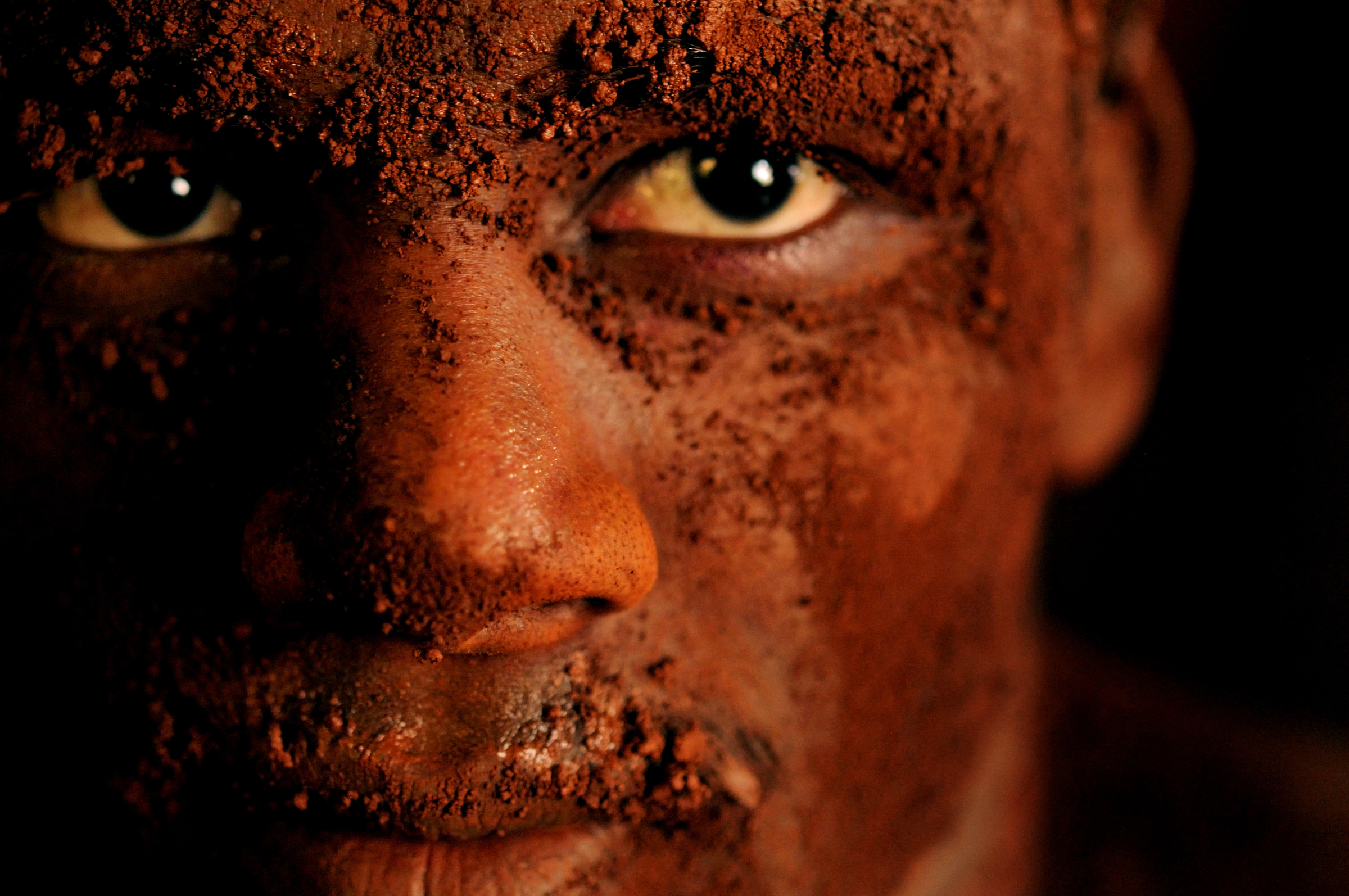 "Portrait of an Indian athlete who practices the three thousand year old sport known as ""Kushti"", a form of wrestling, in its traditional form at the fight club Shahupuri in Kolhapur, India. 2009   © Ami Vitale"