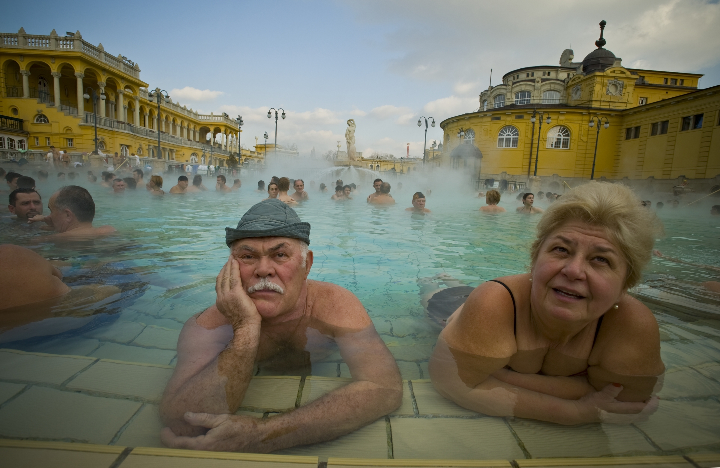"Budapest, Hungary has long been renowned for its health spas and thermal springs but recently it has been discovered that many of these springs are connected underground by a huge ""thermal lake."" 2008   © Ami Vitale"