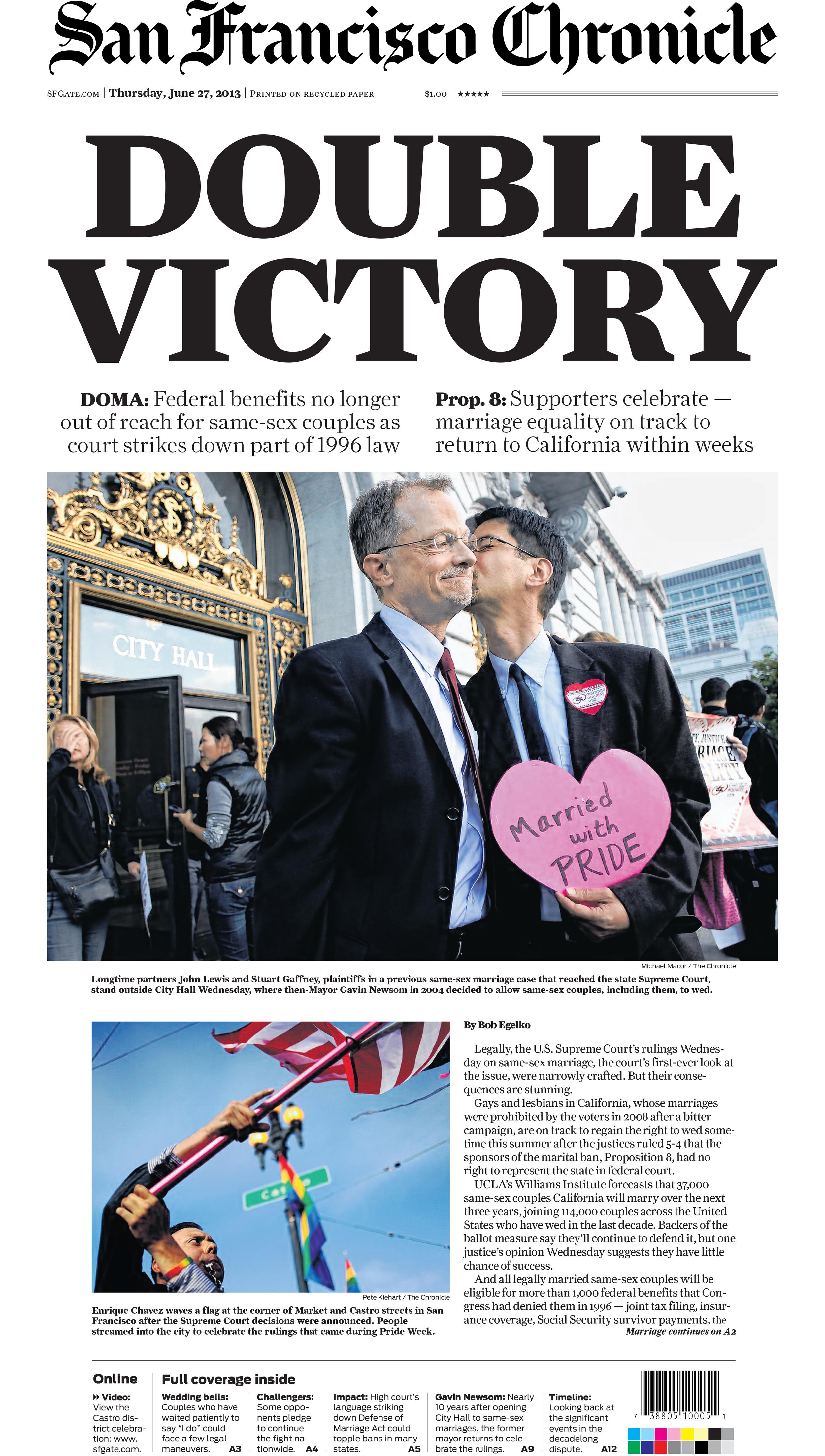The San Francisco Chronicle and SFGate.com June 27, 2013 © San Francisco Chronicle