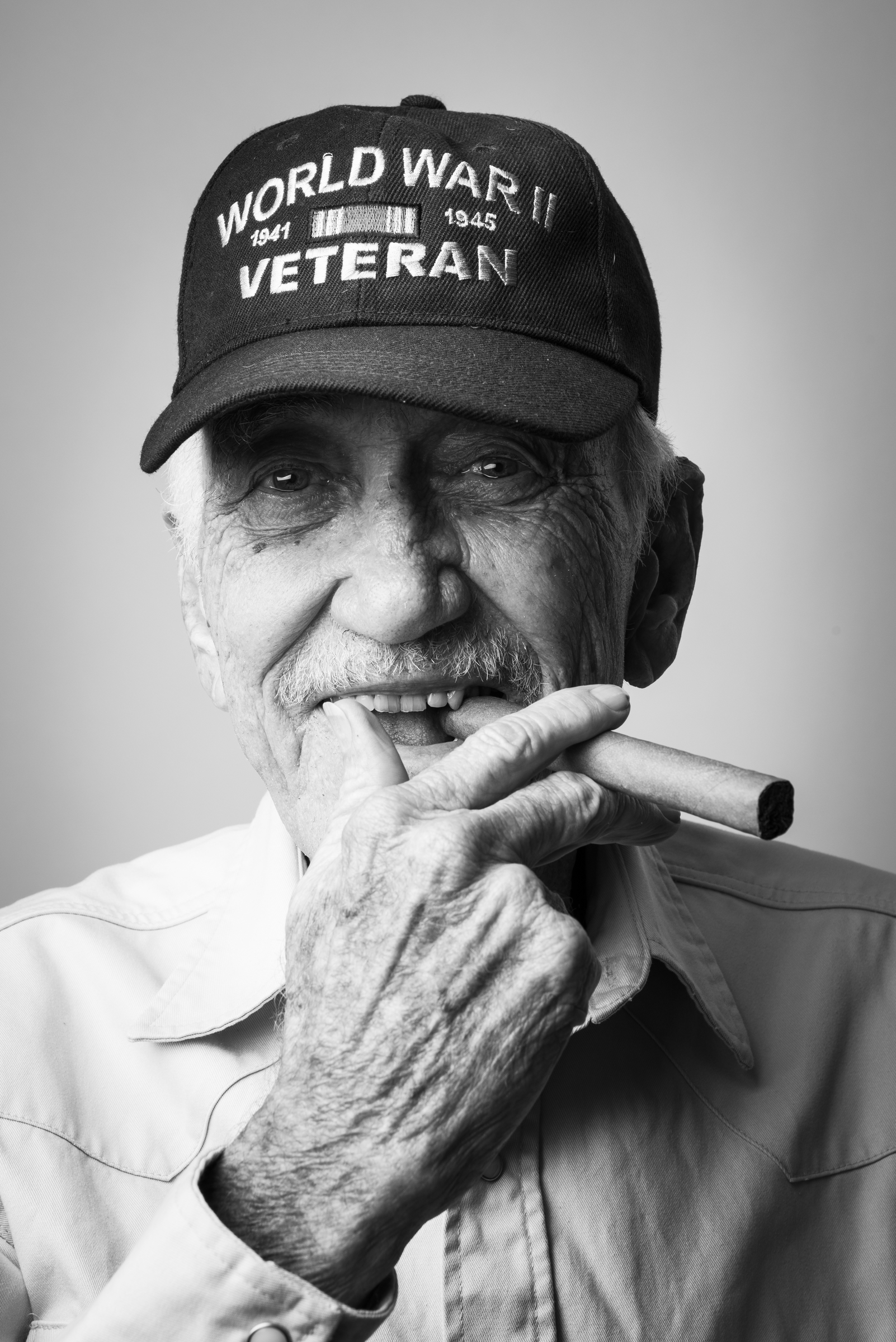"Robert B. Smith served as an NM3C radioman in the Navy from 1944 to 1946. He's a WWII veteran and says, ""I like my women like I like my racehorses, FAST!"" 2013 © Stacy L. Pearsall"