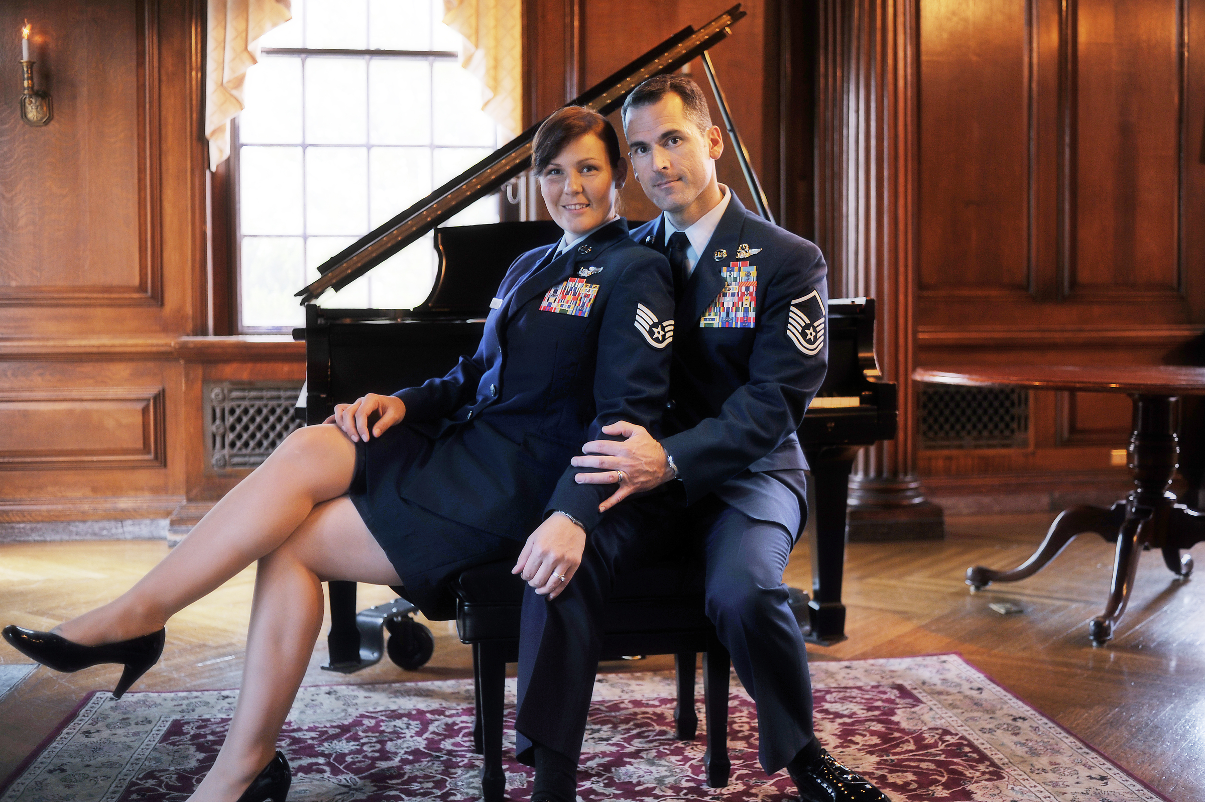 Staff Sergeant Stacy Pearsall and her husband, Master Sergeant Andy Dunaway, attend a gala in Washington D.C. 2009 © Stacy L. Pearsall