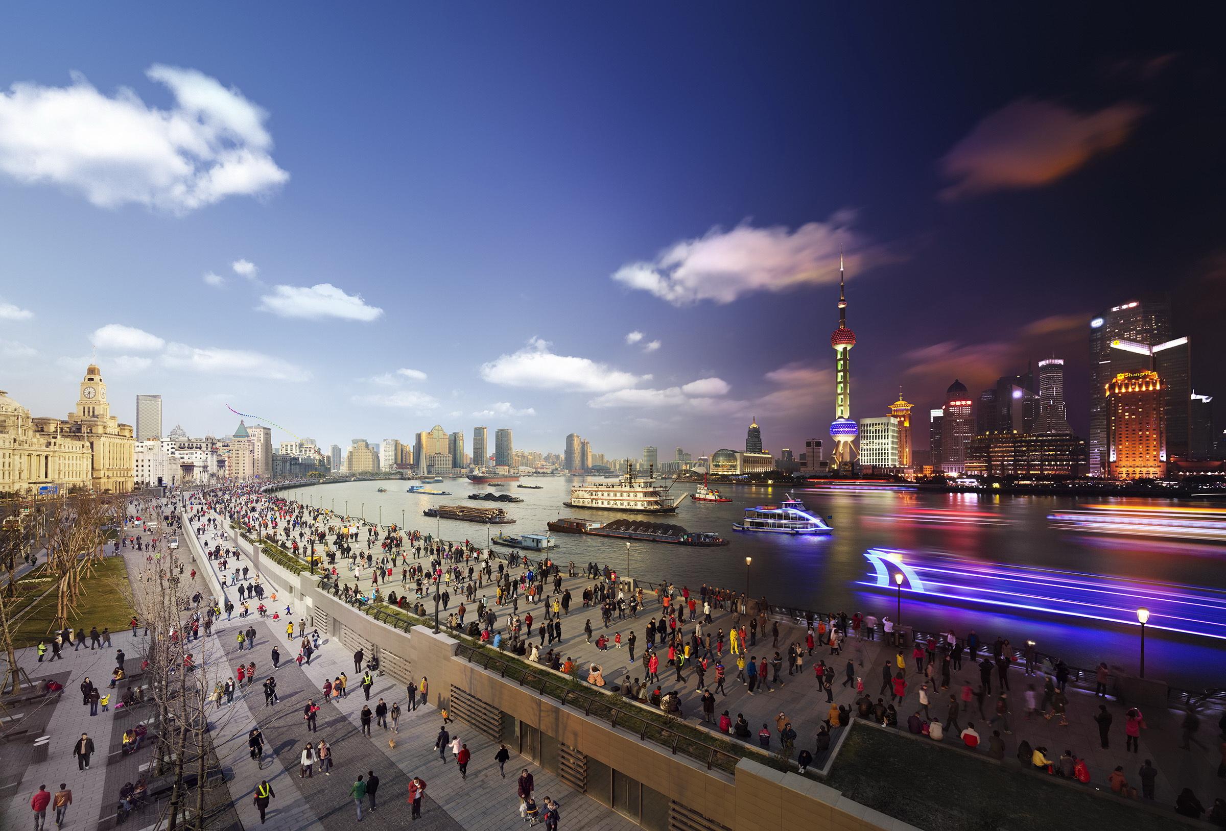 Day to Night: Shanghai, China© Stephen Wilkes