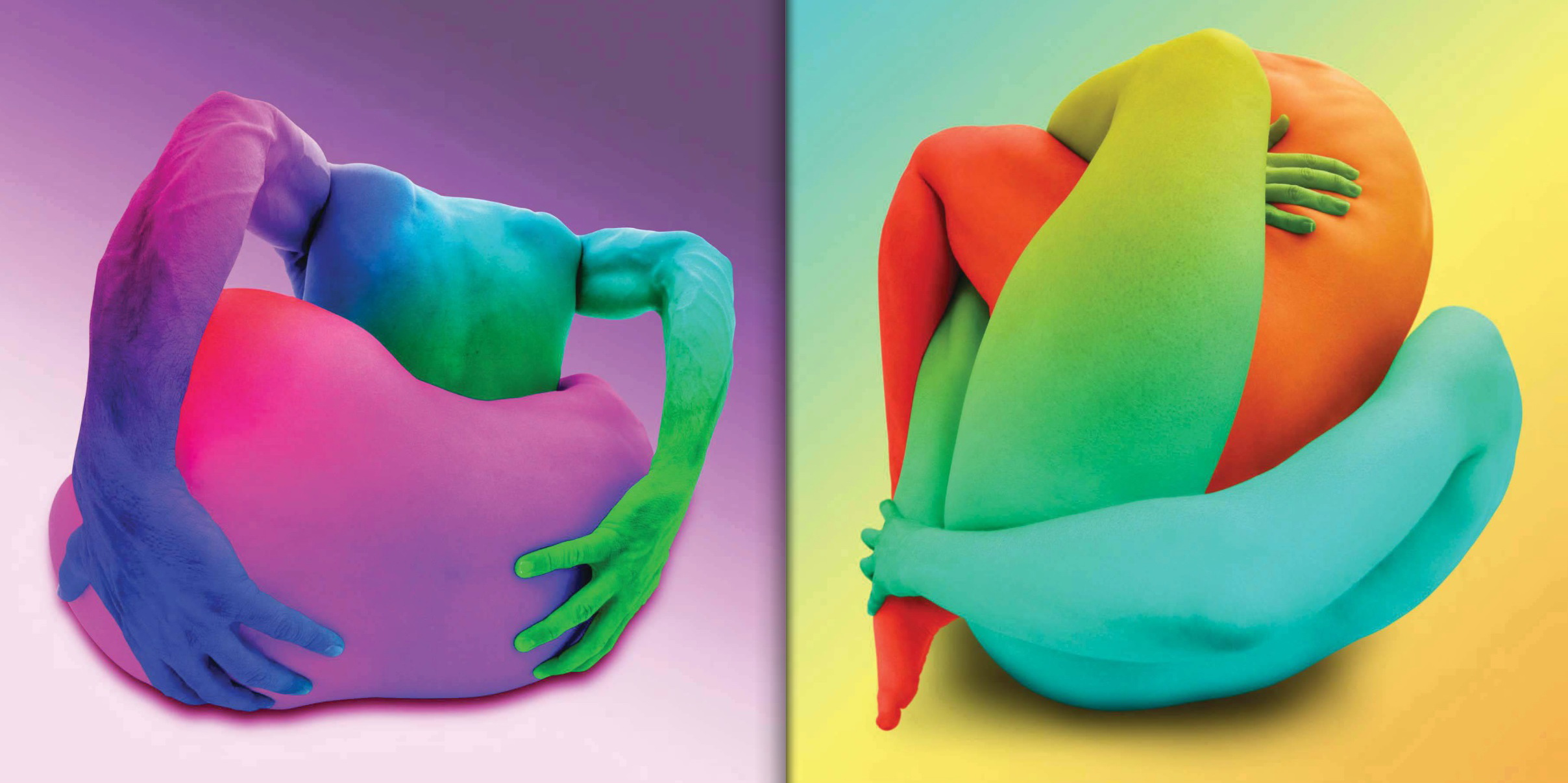 Left: Body Knot #186, Photographed in New York City, 2000. Right: Body Knot #256, Photographed in New York City, 2000.  © Howard Schatz and Beverly Ornstein