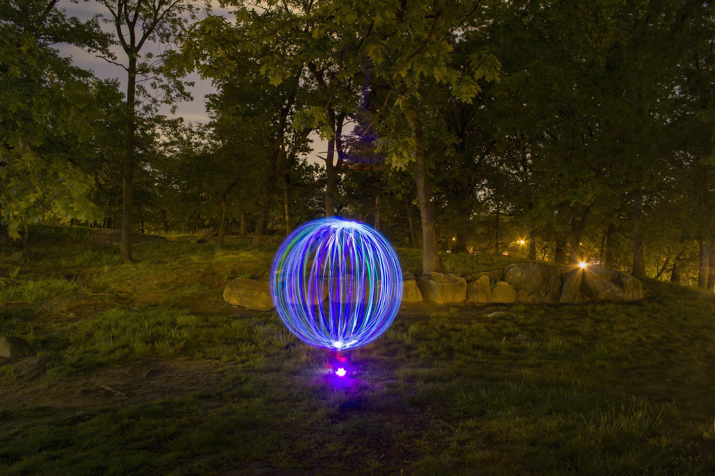 Lit Globe. New York, NY 2013 © Daniel Martinez NYC SALT