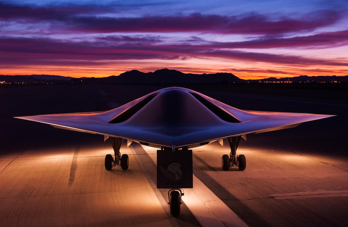 Future of Flying: X-47A Pegasus Drone, Naval Air Weapons Station, China Lake, California National Geographic 2003 © Joe McNally