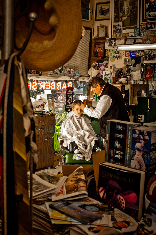 Lolo's Barbershop on Catalina Island, California. © Rob Hammer