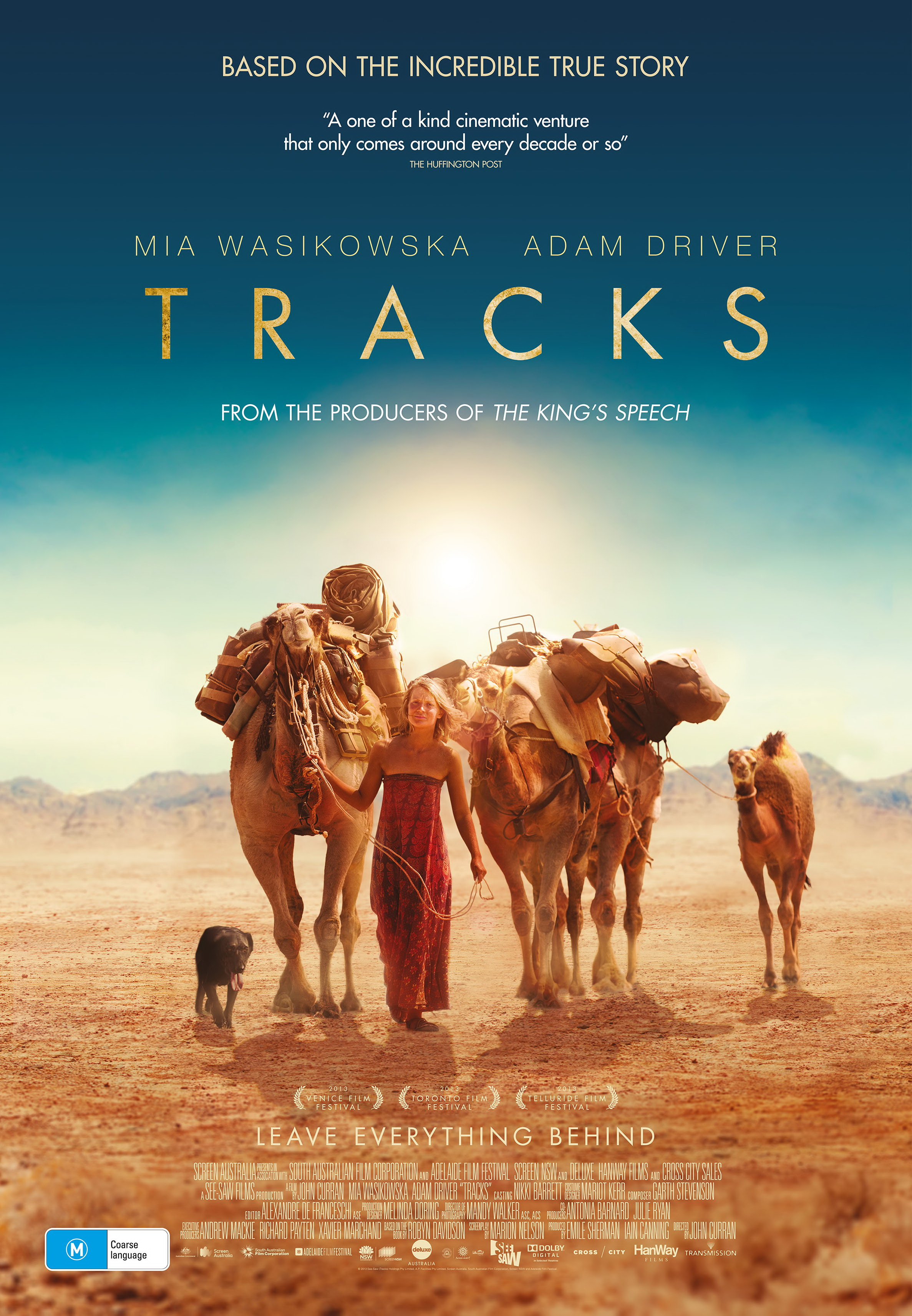 The Australian Poster for TRACKS. Courtesy See-Saw Films