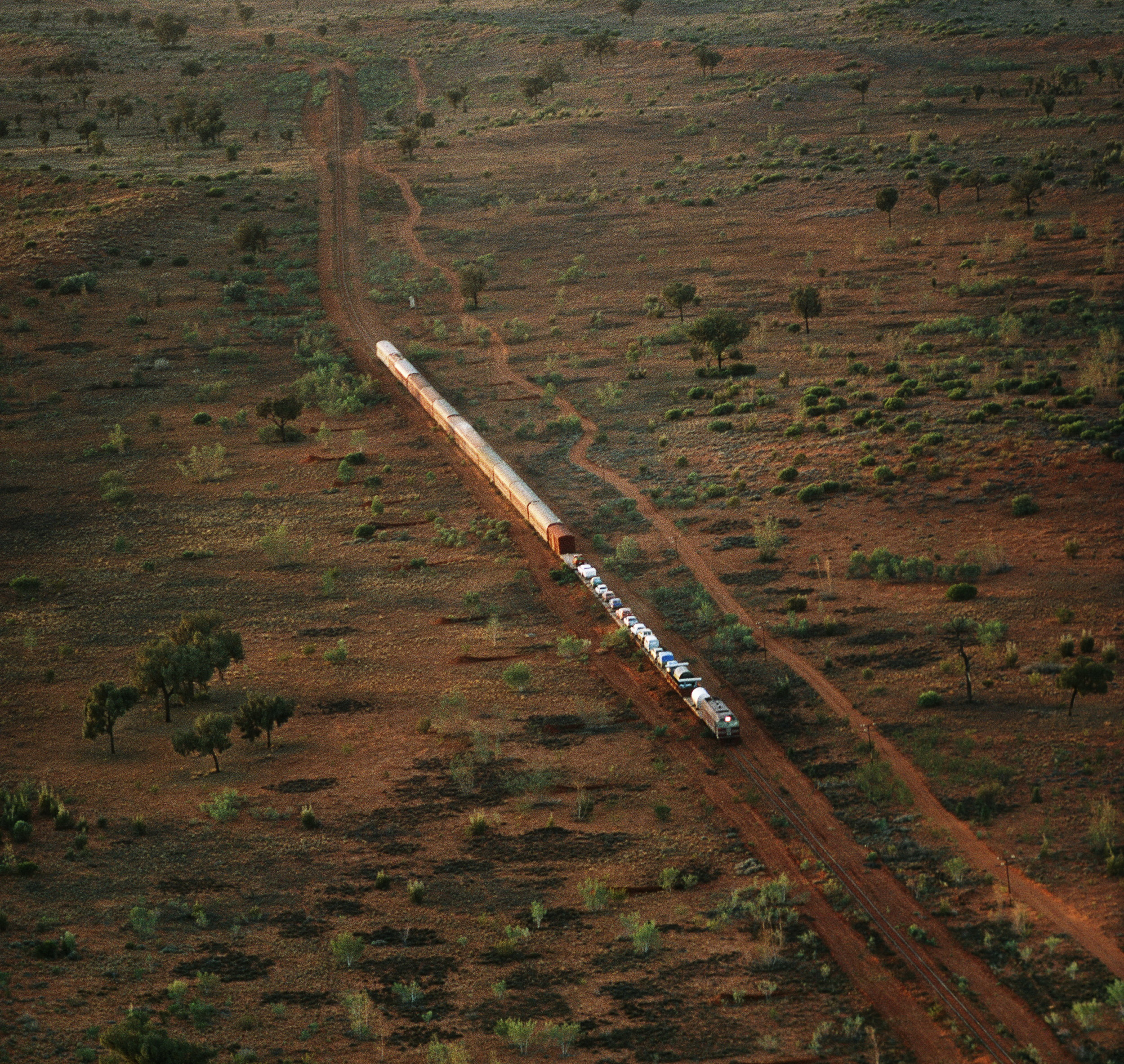 The beginning of Robyn Davidson's journey starts with a train ride to Alice Springs. © Rick Smolan/Against All Odds Productions