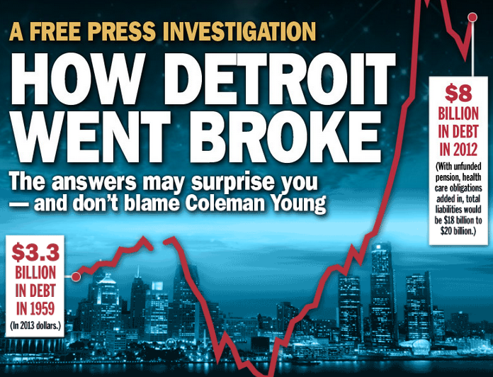 How Detroit Went Broke.  Big projects with little photography.