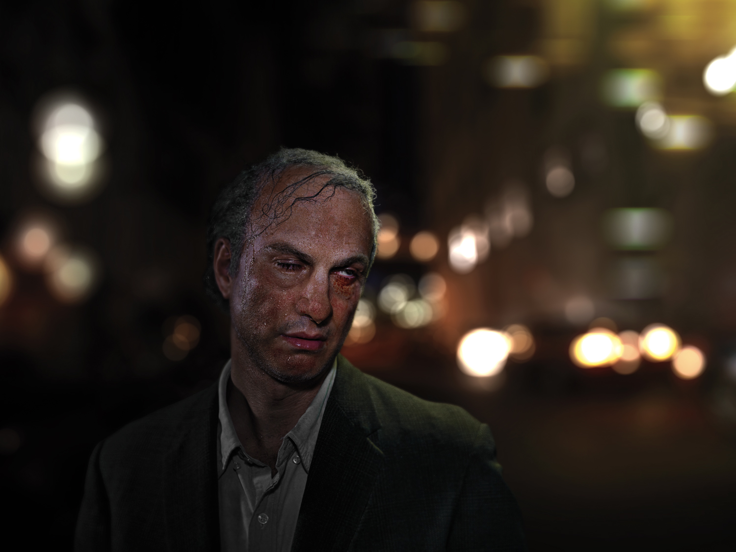"""From """"Maybe"""" which became the documentary   """"The Many Sad Fates of Mr. Toledano."""" Dead Drunk Phil. © Phillip Toledano"""