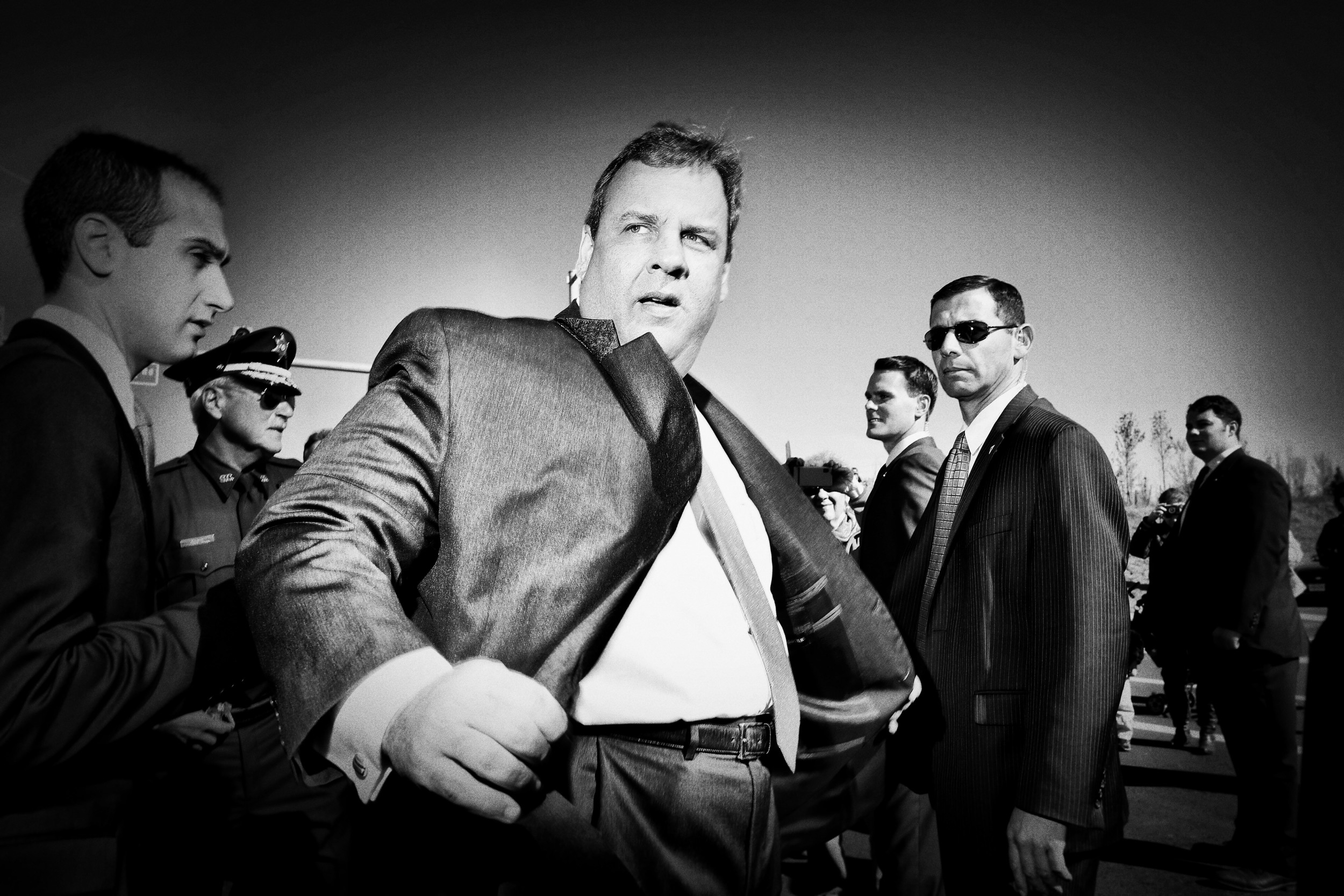 Politics in Black & White:      New Jersey Governor Chris Christie. © Mark Peterson/   ReduxPictures