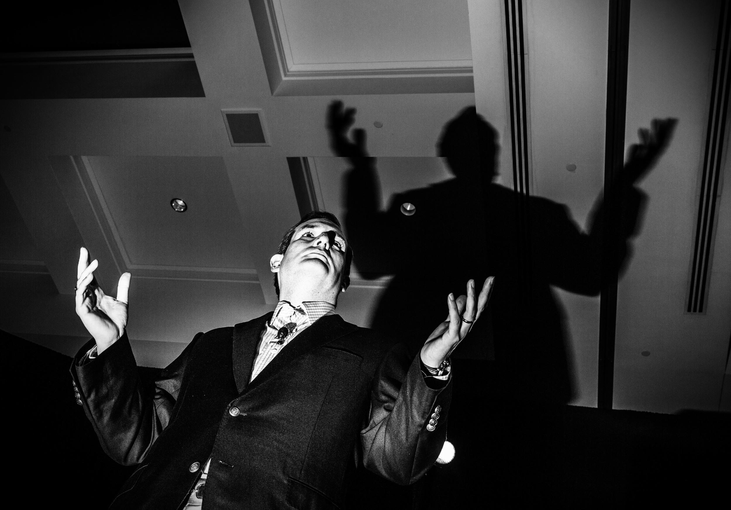 Politics in Black & White:   Ted Cruz casting shadows in Atlanta. © Mark Peterson/   ReduxPictures