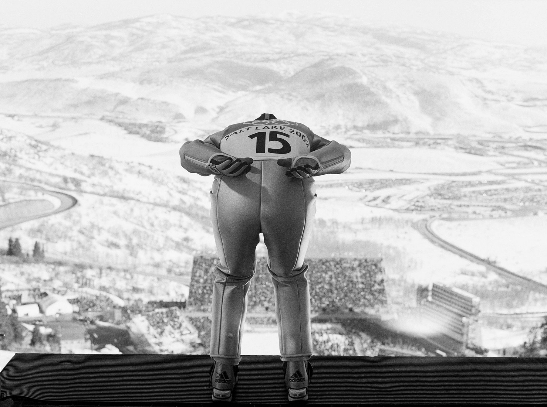 Men's 120k Ski Jump, Winter Olympics, Park City, Utah, February 2002. © 2015 David Burnett/Contact Press Images