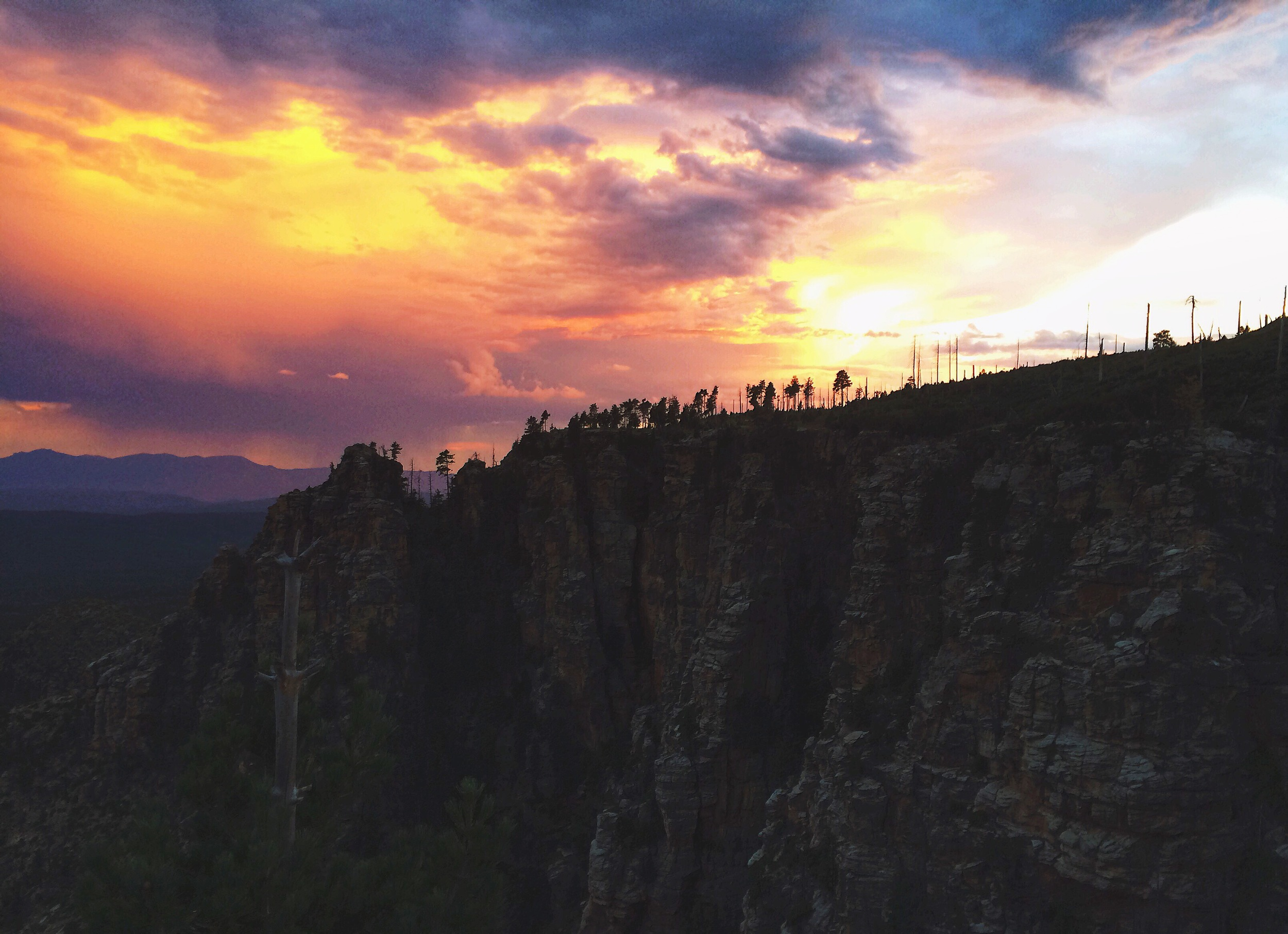 sunset arizona camping