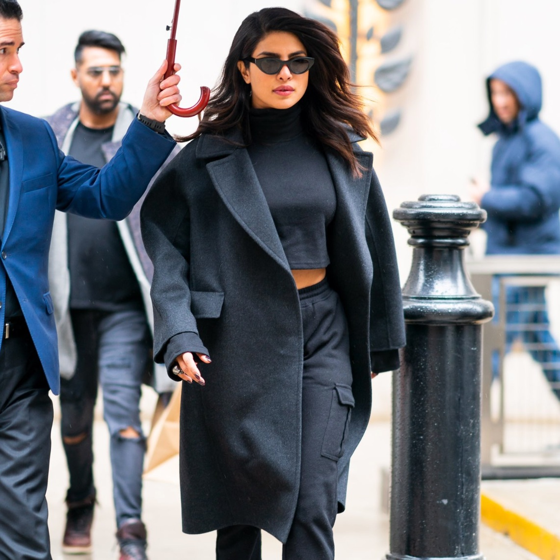 PRIYANKA CHOPRA IN CARGO TRACKSUIT // MARCH 2019