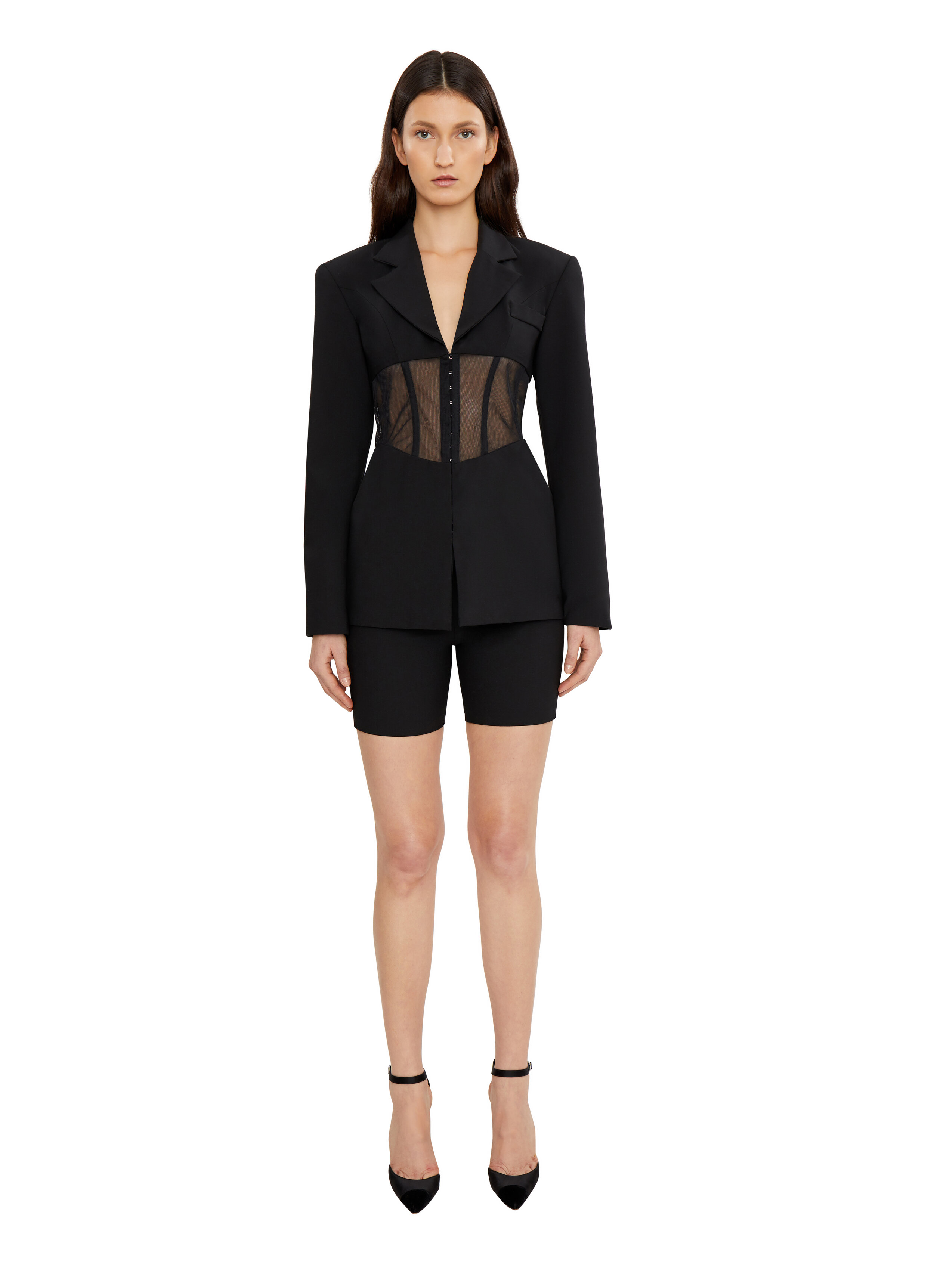 CORSET BLAZER by Danielle Guizio, available on danielleguiziony.com for $468 Kendall Jenner Outerwear SIMILAR PRODUCT