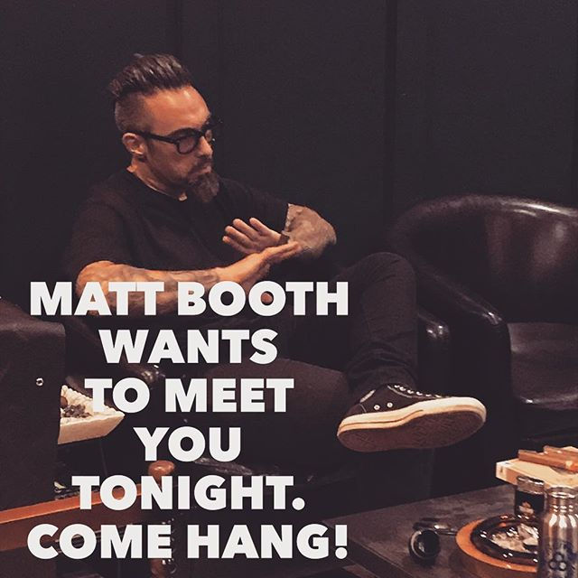 Matt Booth is also in the house tonight. Come hang with him and Robert! #nashville #nashvillecigars #eastnashville #room101 #caldwell