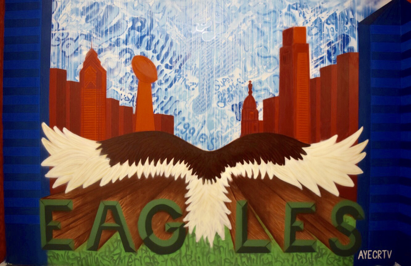Interactive 'USA x Philadelphia Eagles' Mural