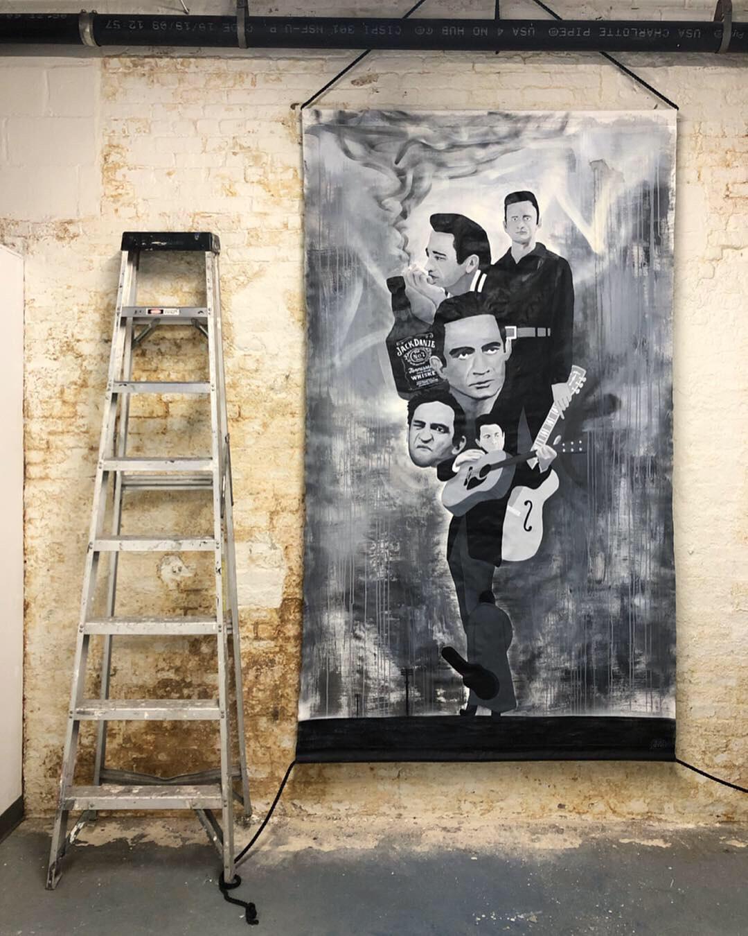 Johnny Cash: Portrait Collage (Commission)
