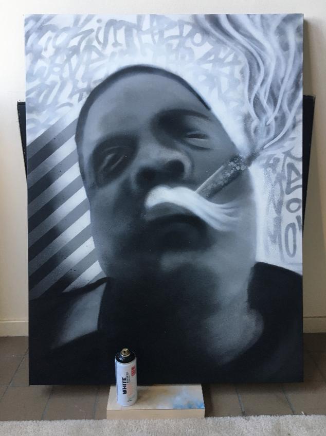 Kick in the Door! - Biggie Portrait (Commission)