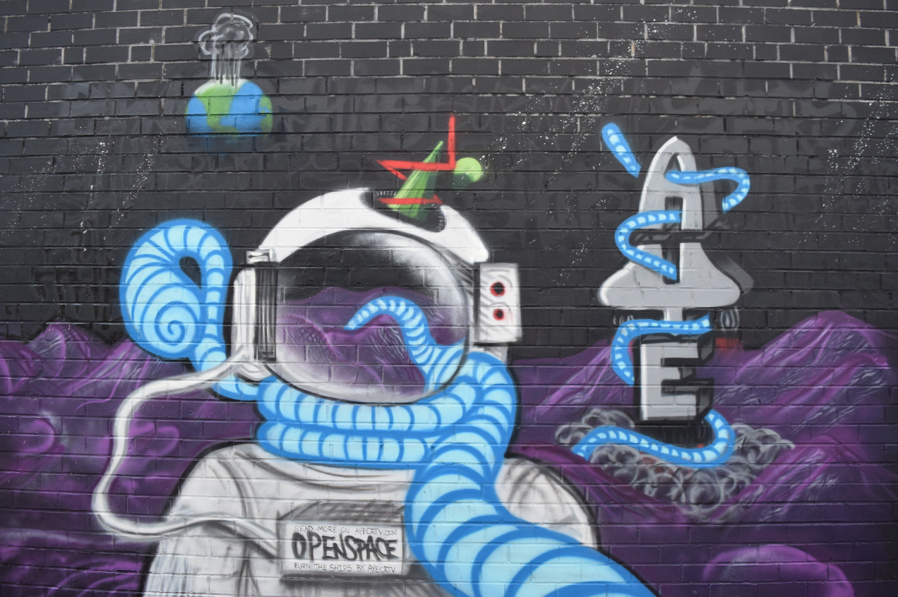 'Burn the Ships' Mural