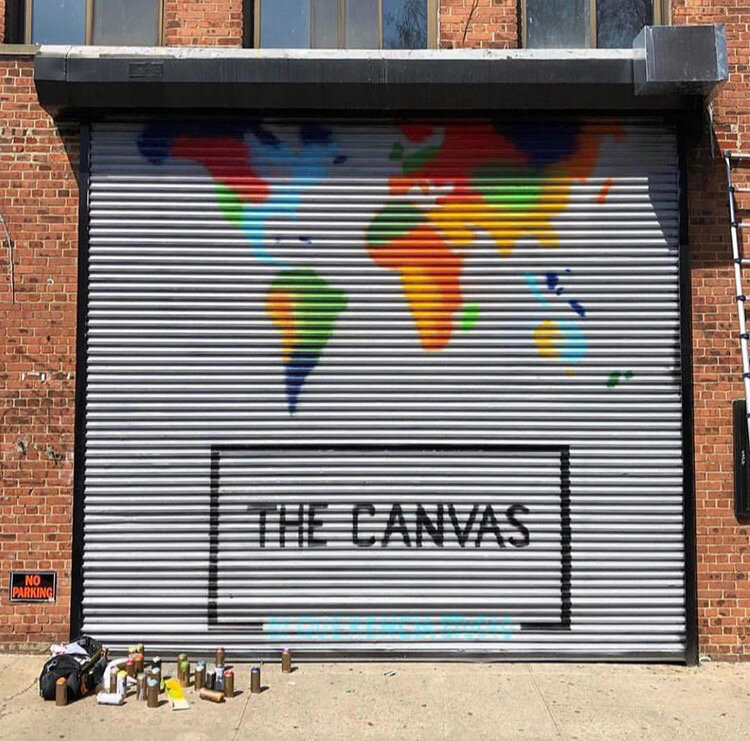 The Canvas by Querencia Studio Mural in Brooklyn, New York