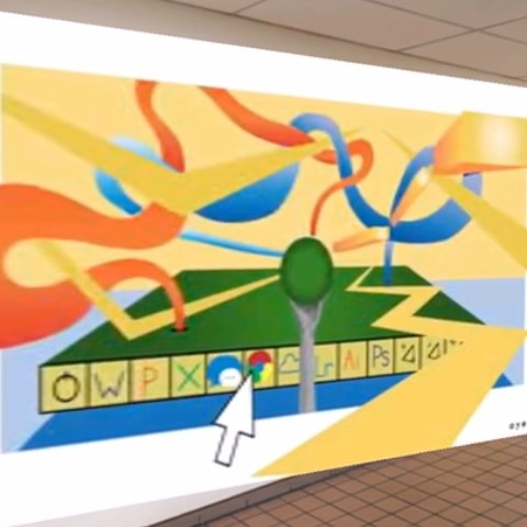 """Hype to announce that aye new augmented reality mural (and New Jersey's first?!) is live in Moorestown High School! . """"The st(ARt) is the hardest part..."""" 15' x 10' hand-painted acrylic(s) on drywall w/ mixed reality capabilities in collaboration w/ @onlymcm . Many thanks to @tgpaparone, Drew Seibel, and our sponsors for making it all possible."""