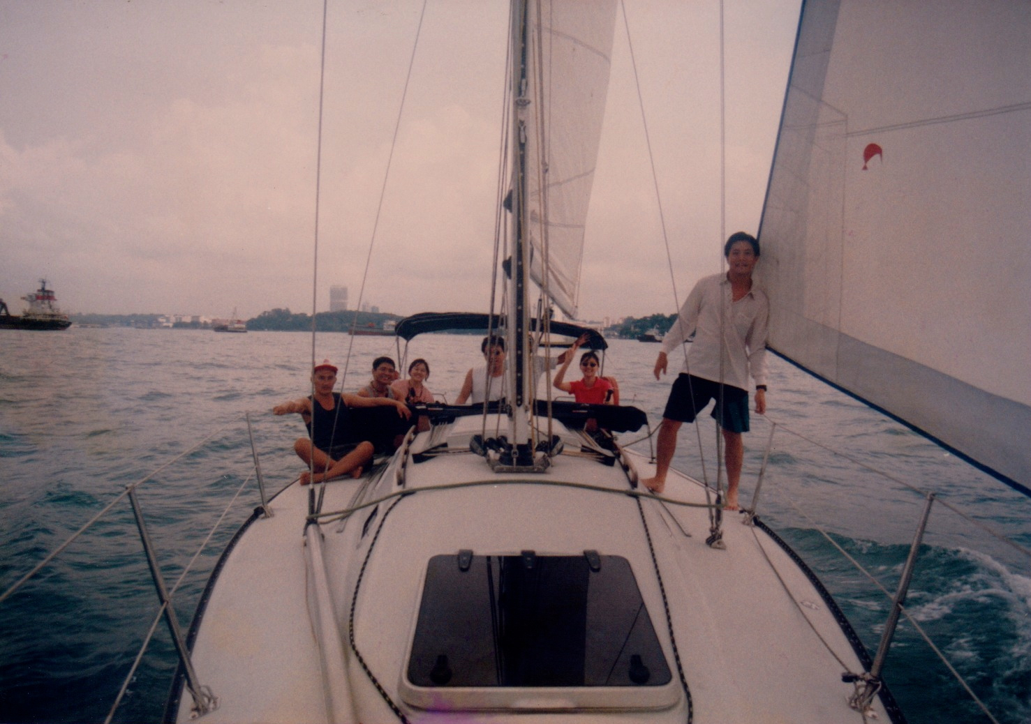 TC Wong sailing with his friends. 1997.