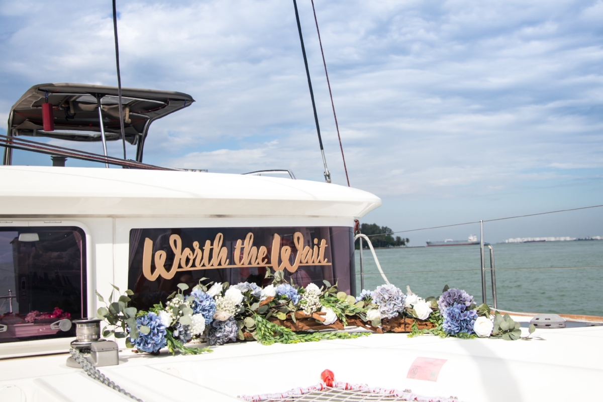 Yacht Wedding Ximula Sail Yacht Rental Singapore