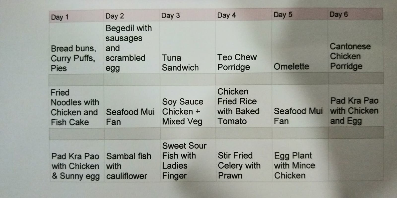 ximula sail holiday meal plan