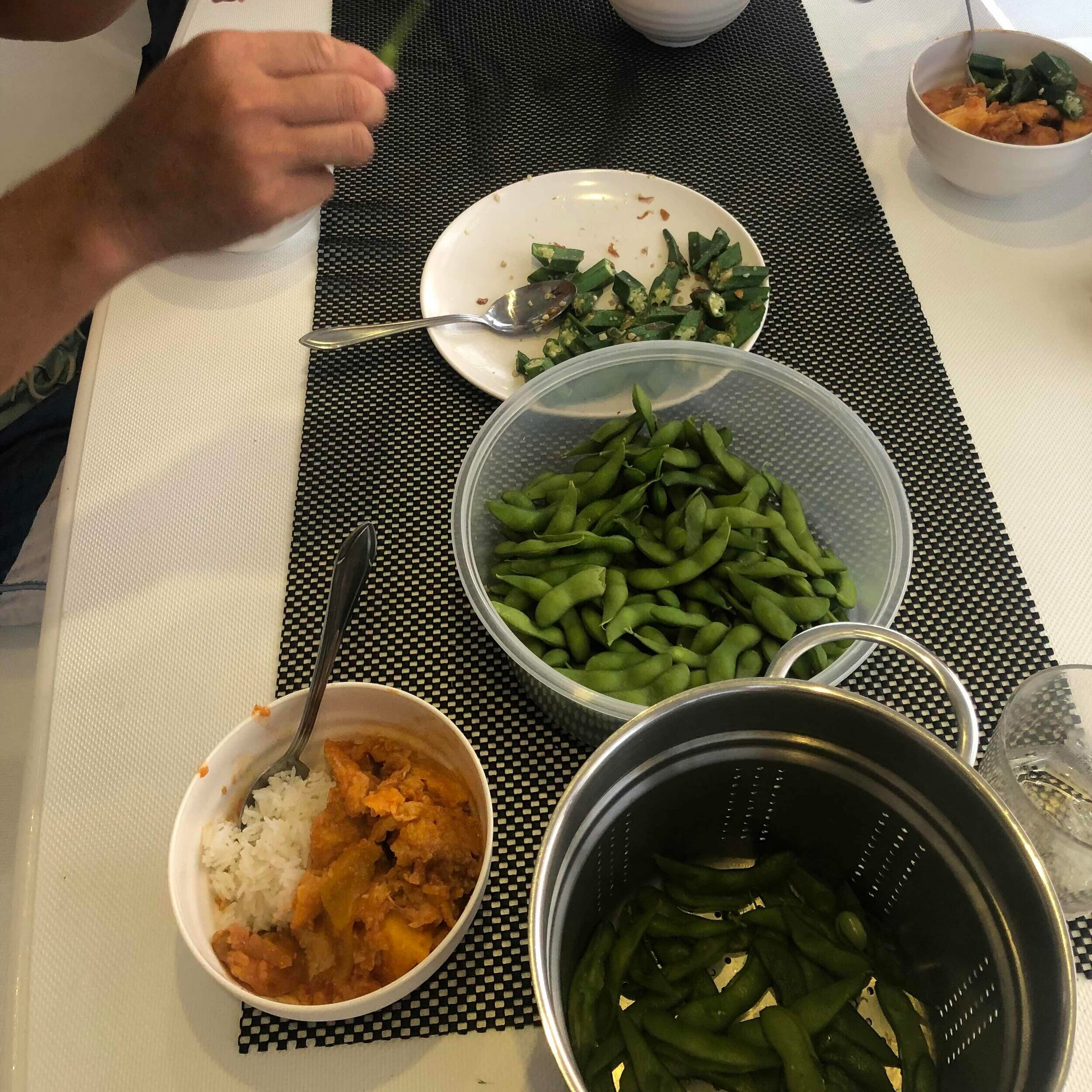 Sweet & Sour Fish with Ladies Finger & Edamame