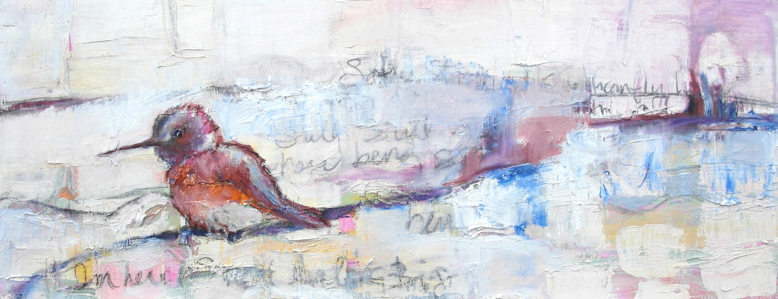 I'm Here      12x30  oil on canvas
