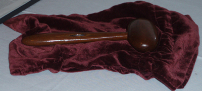 Photo of the GSOC gavel taken during the 2010 GSOC banquet.
