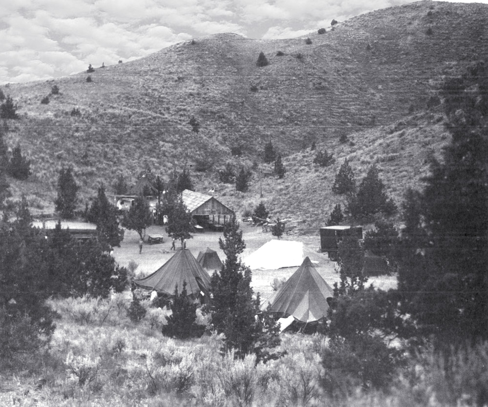 Camp   Hancock in its early   days.   (Photo   courtesy   Ed Bushby)