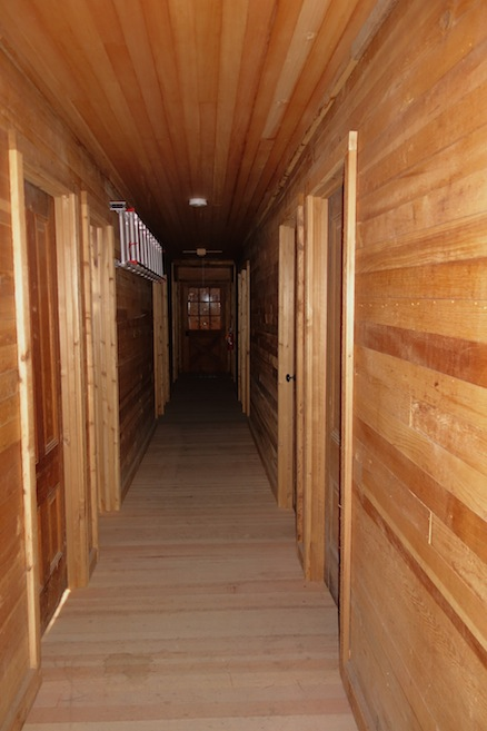 The Inn has a long hallway, from which are many rooms with bunk beds for the mountain climbing-skiing enthusiasts.