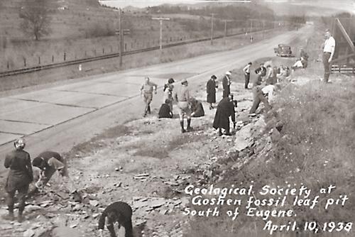 April 1938 — Goshen Fossil Leaf Pit