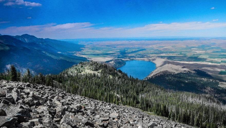 Wallowa Lake at the base of the Wallowa Mountains near Enterprise, Oregon. Photo by Ellen Morris Bishop.