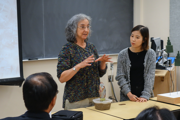 Sheila and translator Wang Zishan.