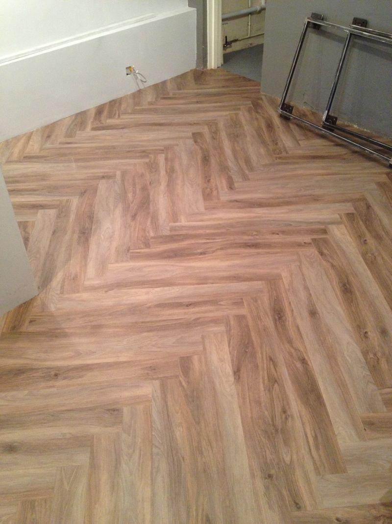 Karndean Herringbone floor