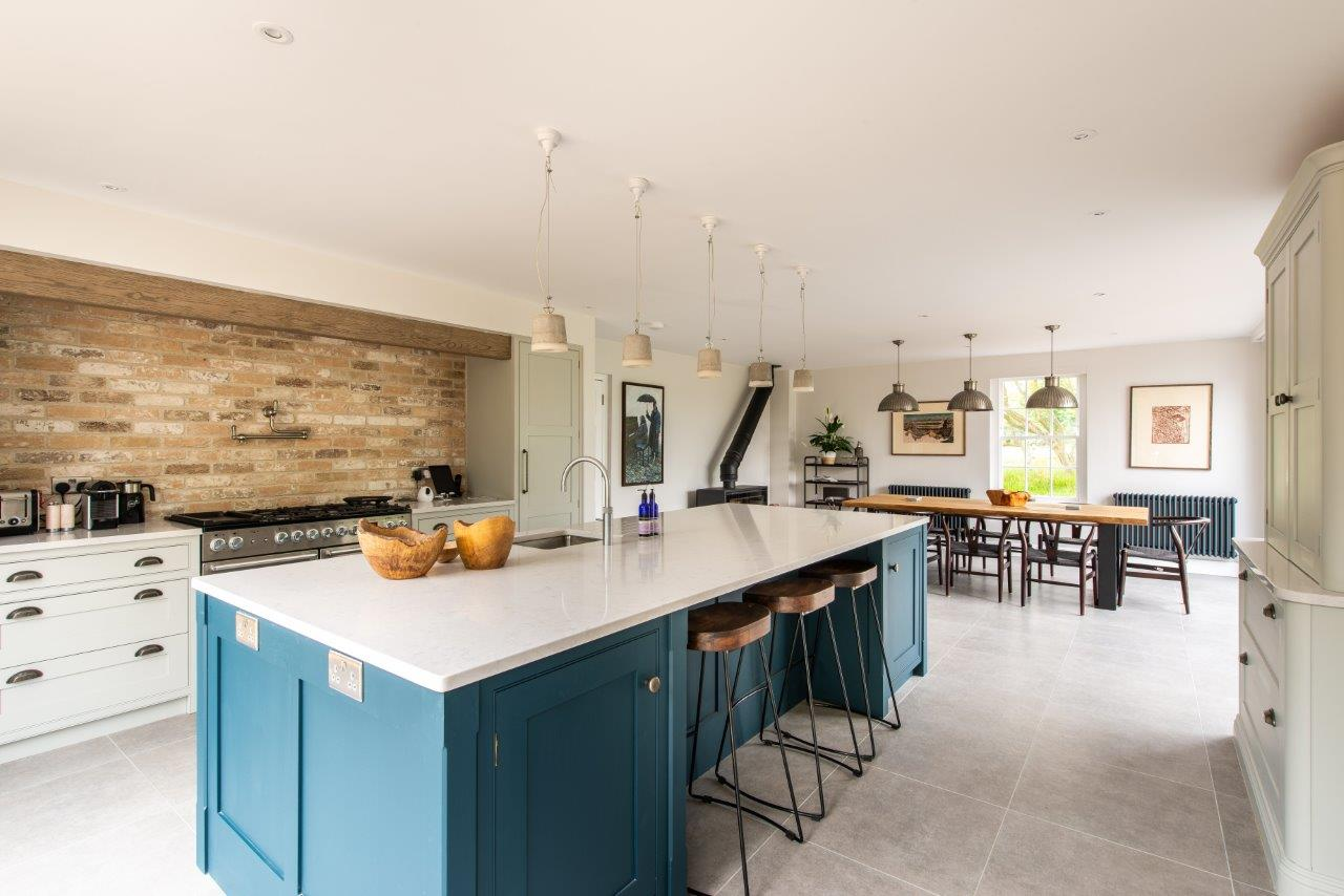 Natural Stone Floor in Kitchen Extension