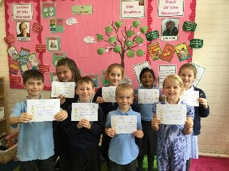 This week's superstars! - Well done Zach, Ava, Ethan, Lexi, William, Madhu, Roxi and Iris