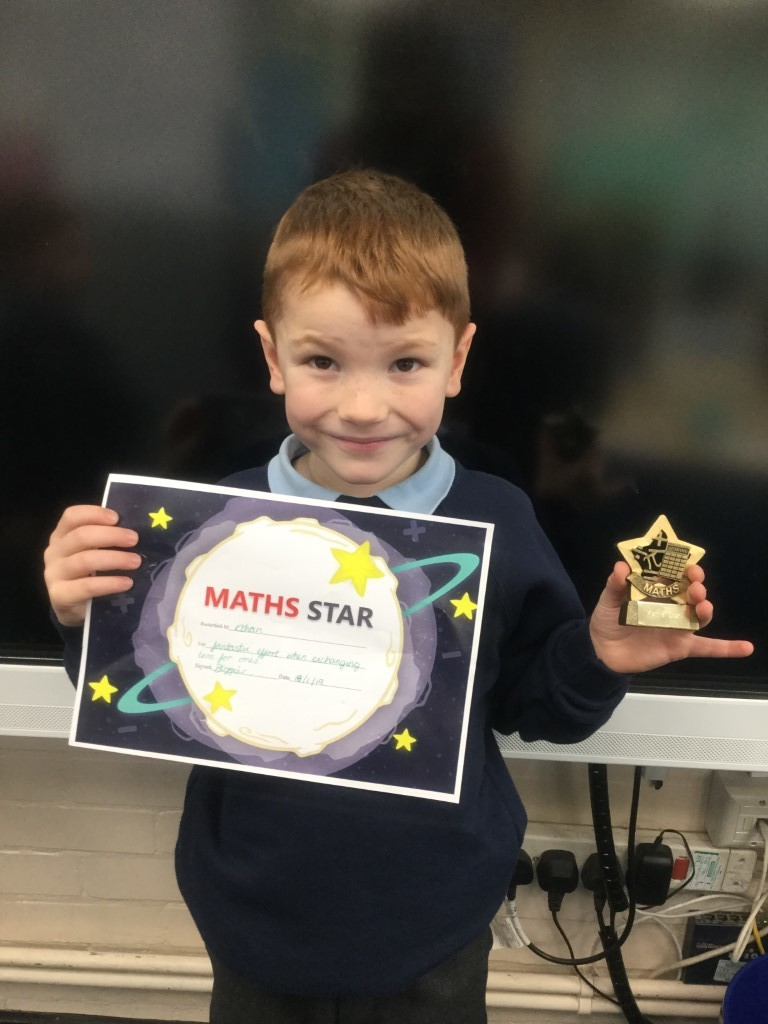 Ethan received the Maths Star for fantastic effort when exchanging tens for ones in addition and subtraction. -