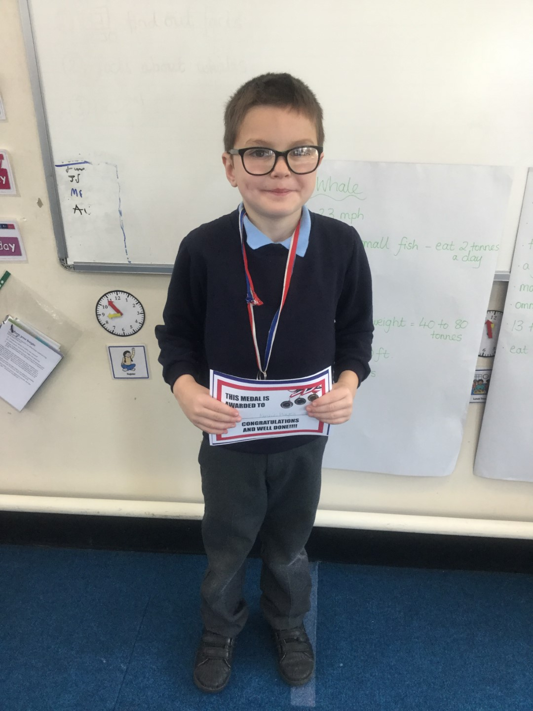 Our 'Champion of the Week' is Kenzie for outstanding effort and hard work over the course of the week. Well done Kenzie! -