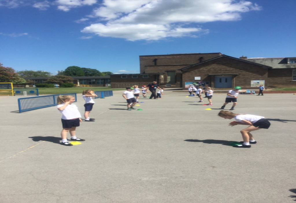 In PE, we had a fantastic opportunity to work with a specialist cricket coach. He taught us how to correctly catch a ball, field and bat. Once we had practiced the skills we had a game. -